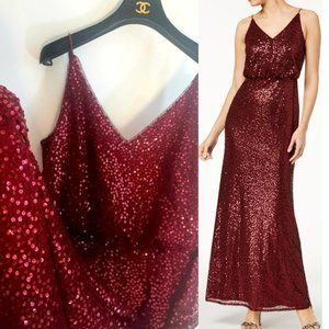 $179 ADRIANNA PAPELL New sequin party long gown M